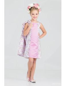 """Комплект светло-лилового цвета платье и пальто """"Брайт лук"""""""